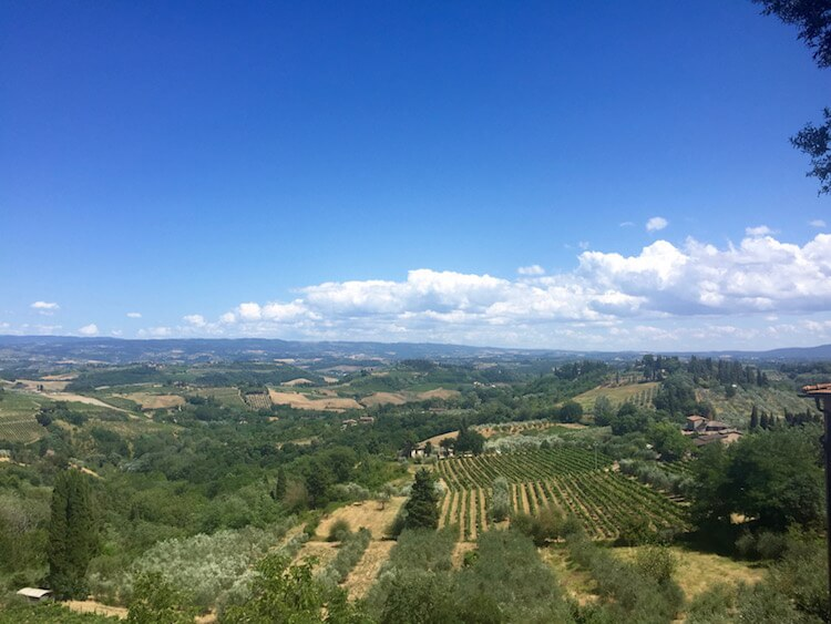 View of Tuscan countryside